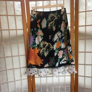 Anthropologie flora and fauna skirt